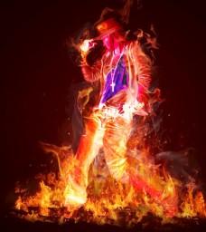 炫酷火焰人物
