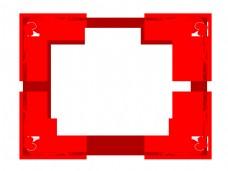 手绘方形爱情边框