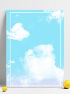 蓝天白云清新背景