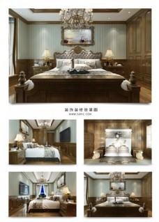 欧式卧室装饰装修效果图3Dmax