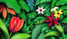 花朵绿叶素材