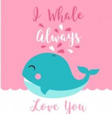 海豚卡通动物头像