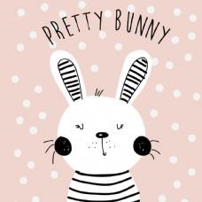 小兔子卡通动物头像