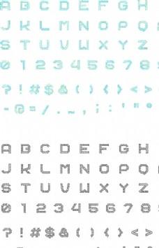 科技感后現代電路板風格英文字體