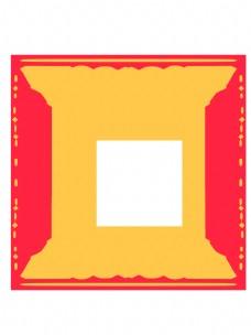 中国风金色红色元素手绘边框