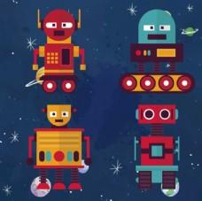 卡通太空机器人