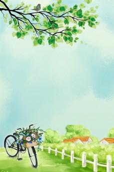 清新简约浪漫春天春季背景设计