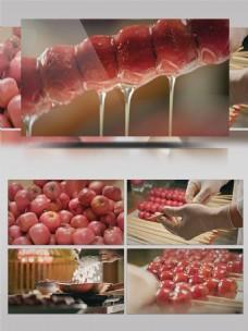 美味可口的冰糖葫芦制作过程