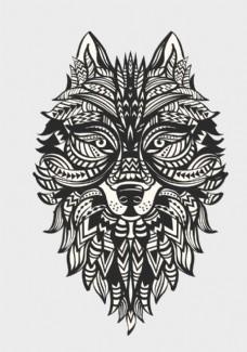矢量纹身图案