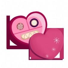 手绘情人节巧克力插画