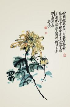 中国风水墨菊花绘画