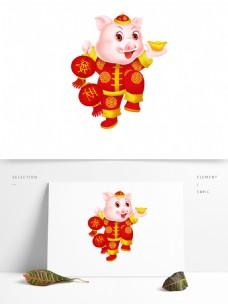 2019猪年大吉猪形象元素设计