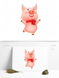 可爱2019猪形象元素设计