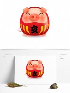 2019猪年喜庆形象元素设计