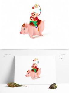 2019猪年创意形象元素设计