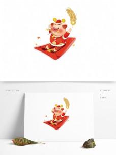 2019猪年红包元素设计