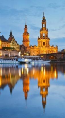 历史悠久的城市风景图