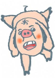 扁平化猪年插画