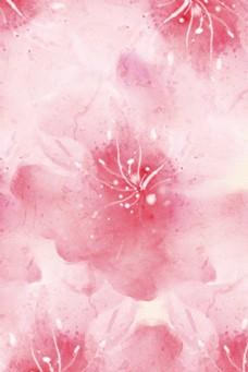 明亮水彩粉色花卉电商淘宝背景H5