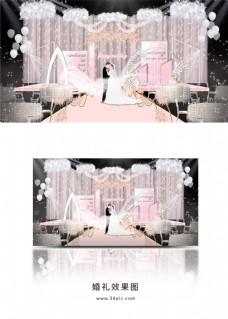 粉色系小清新梦幻婚礼效果图