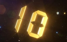 大气磅礴金色数字10秒倒计时