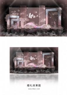 粉蓝海洋系婚礼效果图