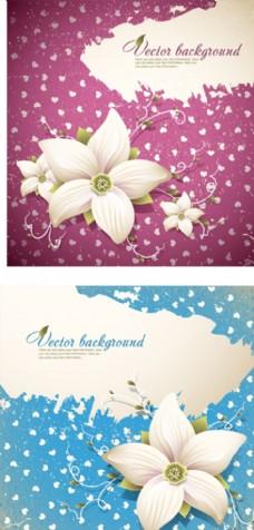 矢量花卉卡片