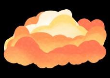腾起的渐变云插画