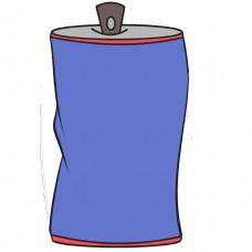 蓝色的饮料报框插画