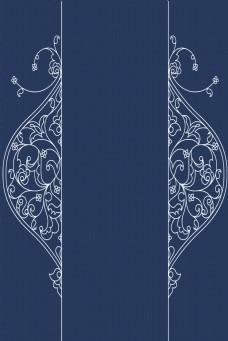 深蓝欧式复古边框电商淘宝背景H5