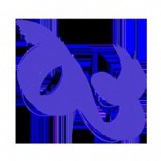 紫色简约抽象曲线