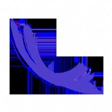 简约抽象可爱紫色曲线线条