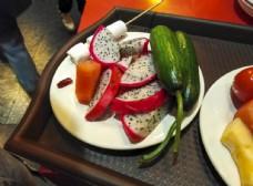 水果 一盘水果 自助餐水果 果