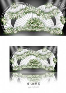 白色简约婚礼迎宾区效果图