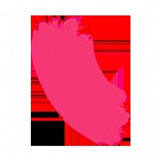 抽象粉色简约线条发丝曲线