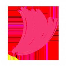 抽象粉色简约线条曲线