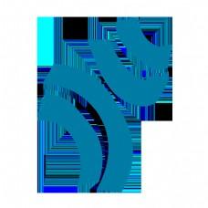 青色简约抽象四条线条
