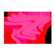 抽象线条粉色扭曲曲线
