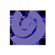 紫色简约抽象曲线玫瑰