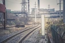 铁路透视摄影图片
