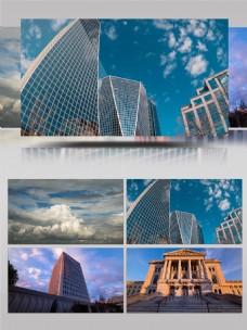 唯美云层大气建筑延时摄影