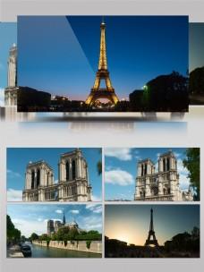 巴黎城市建筑延时摄影