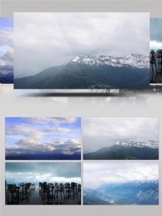4K瑞士雪山实拍延时摄影