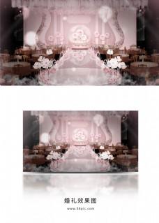 粉色梦幻婚礼效果图