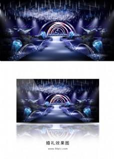 海洋系异形拱门舞台婚礼效果图