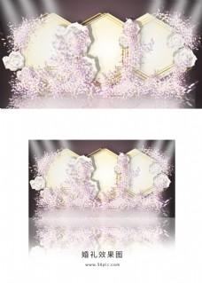 粉色简约婚礼礼迎宾区效果图