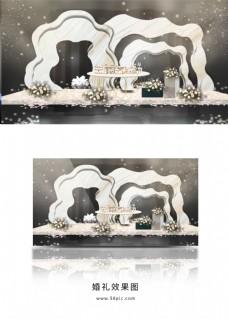 大气创意大理石甜品区效果图