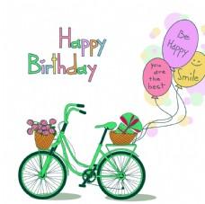 自行车插画