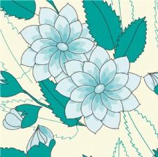 卡通花卉背景