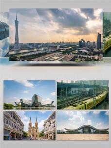 广州城市空镜延时摄影
